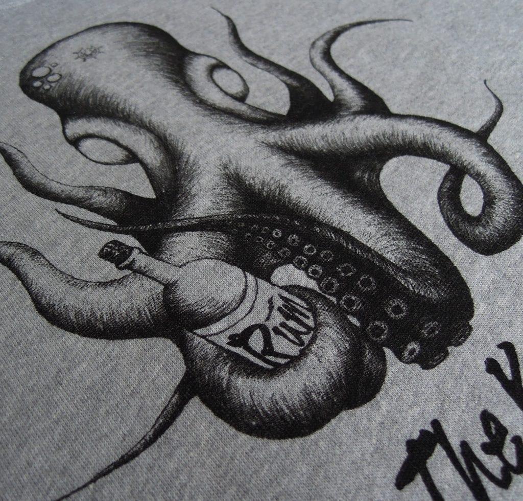 The Kraken Hoodie Detail