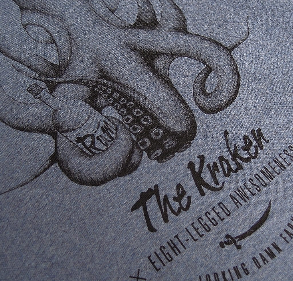The Kraken weicher 2c Siebdruck
