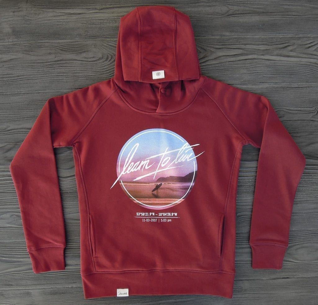 Dandala learntolive burgundy hoodie