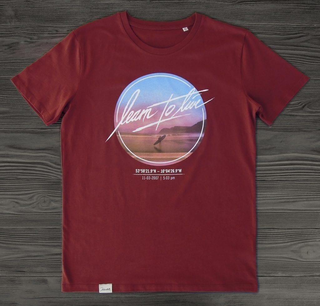 Dandala Shirt Learn To Live Burgundy