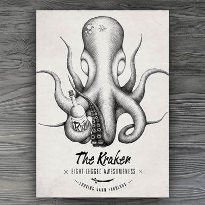 The Kraken Postkarte