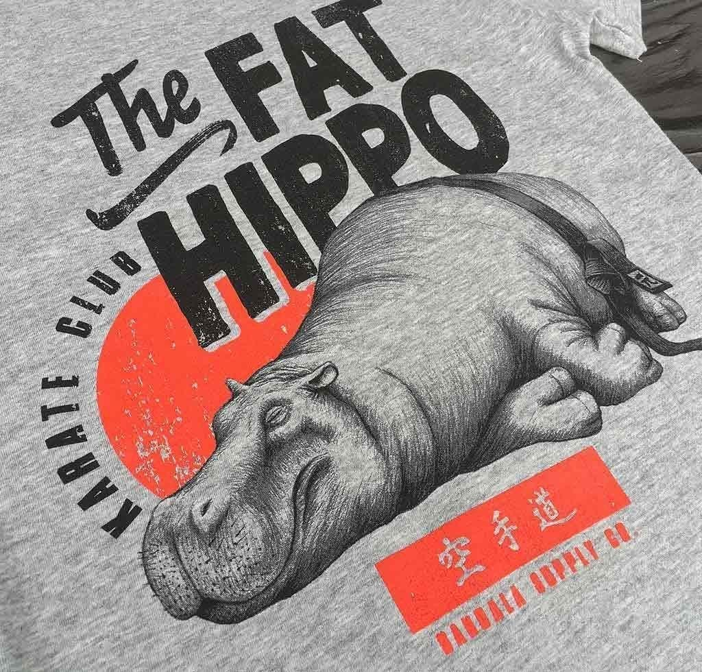 The Fat Hippo Karate Club Kinder T-Shirt