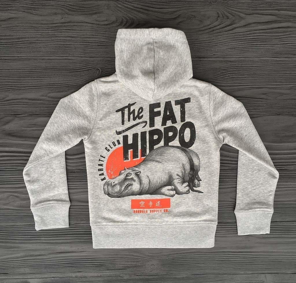 The Fat Hippo Karate Club Bio Kinder Hoodie