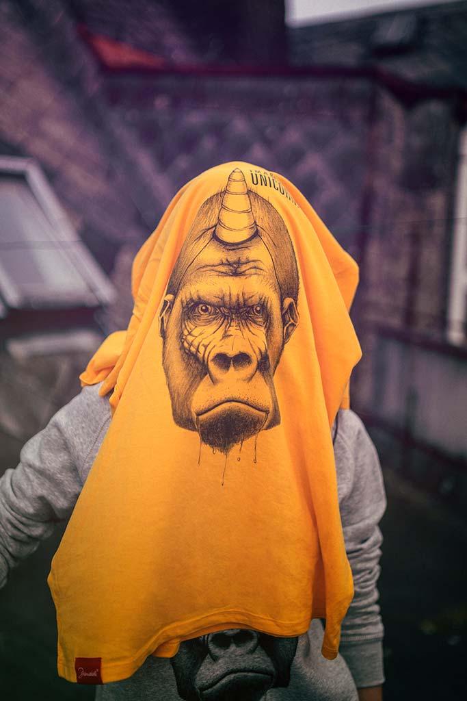 Badass Unicorn Yellow Shirt Organic