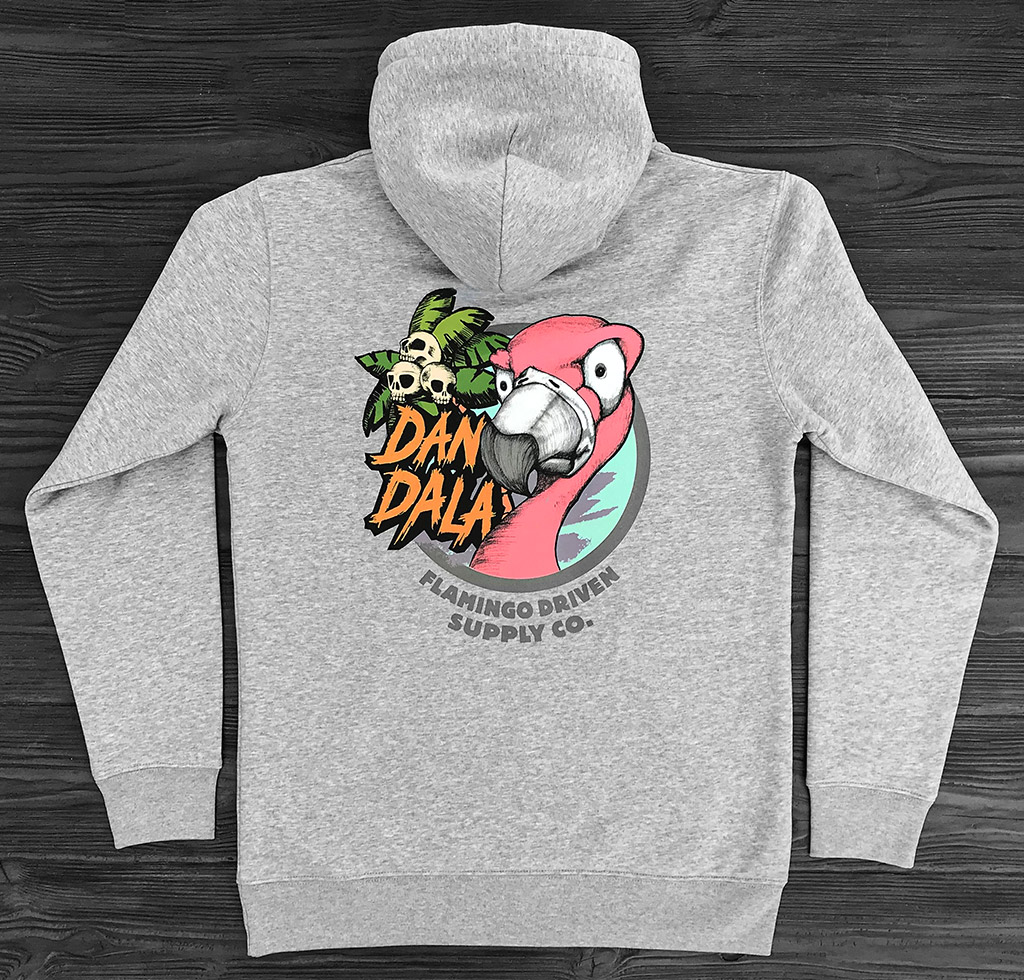 Dandala_flamingo_hoodie_grey_back