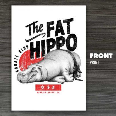 Dandala_karate_hippo_poster